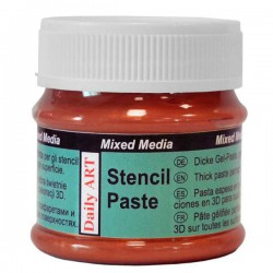 Pasta trafaretams Perlamutriniai raudoni (50 ml)