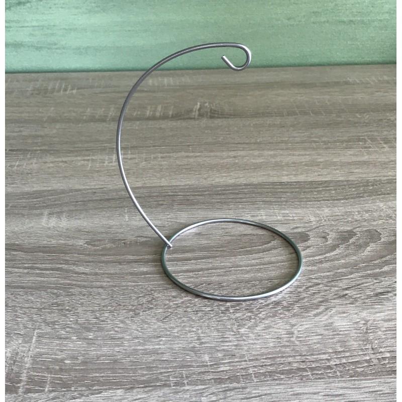 Stovas 12 cm burbului (sidabro spalva)