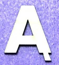Raidė Ą (5 cm, 8 šriftas)