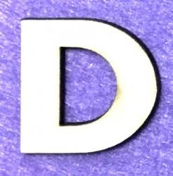 Raidė D (5 cm, 8 šriftas)