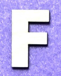 Raidė F (5 cm, 8 šriftas)