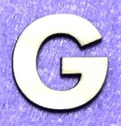 Raidė G (5 cm, 8 šriftas)