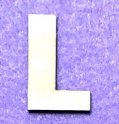 Raidė L (5 cm, 8 šriftas)
