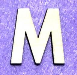 Raidė M (5 cm, 8 šriftas)