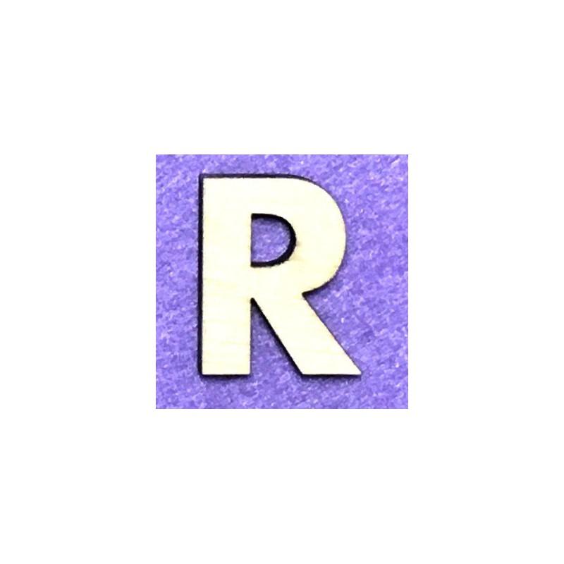 Raidė R (5 cm, 8 šriftas)
