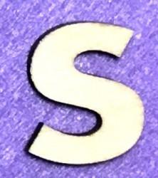 Letter S (5 cm)
