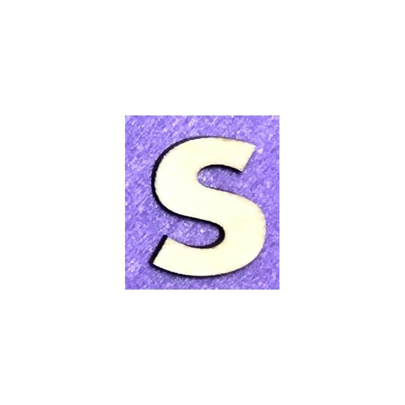 Raidė S (5 cm, 8 šriftas)