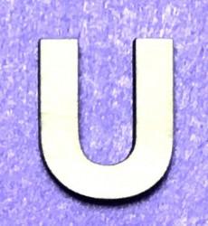 Raidė U (5 cm, 8 šriftas)