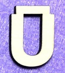 Raidė Ū (5 cm, 8 šriftas)