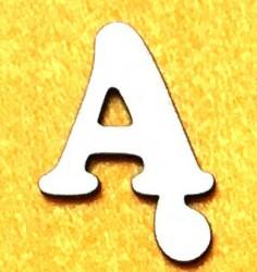 Raidė Ą (5 cm, 7 šriftas)