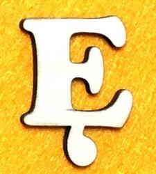 Raidė Ę (5 cm, 7 šriftas)