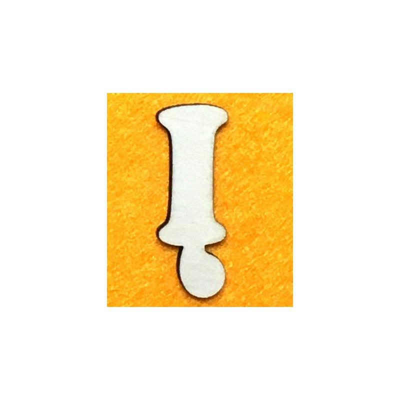 Raidė Į (5 cm, 7 šriftas)