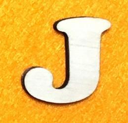 Raidė J (5 cm, 7 šriftas)
