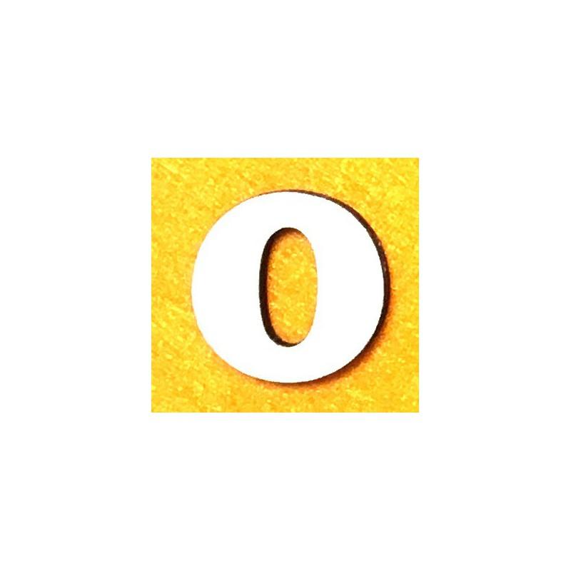 Raidė O (5 cm, 7 šriftas)