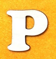Raidė P (5 cm, 7 šriftas)