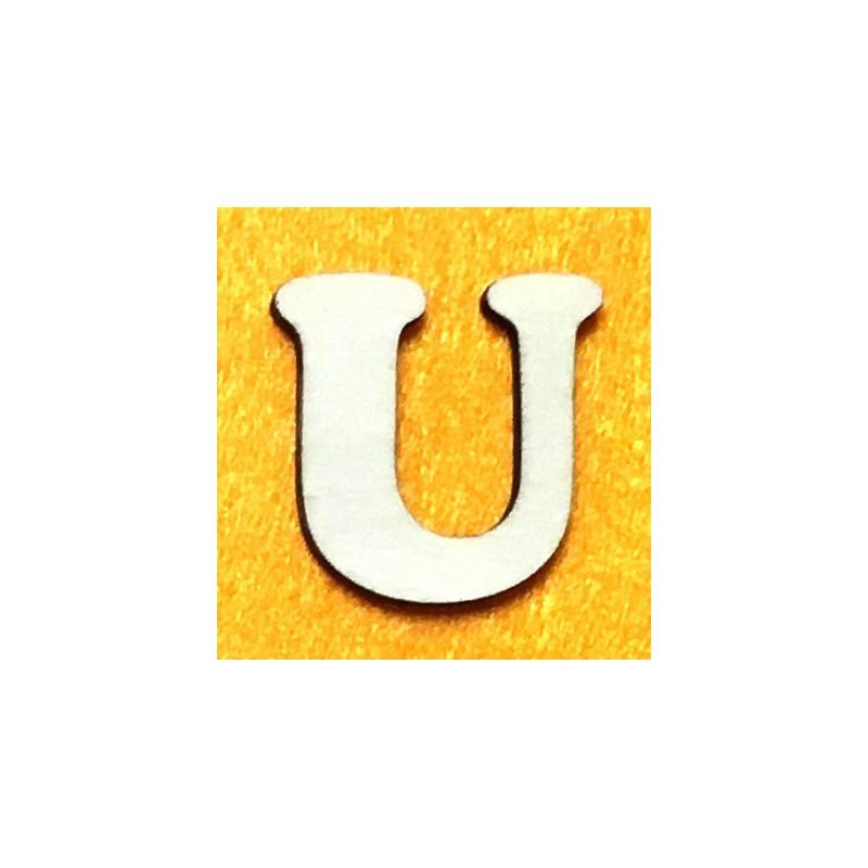 Raidė U (5 cm, 7 šriftas)