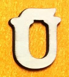Raidė Ū (5 cm, 7 šriftas)