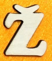 Raidė Ž (5 cm, 7 šriftas)