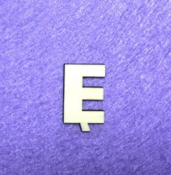 Raidė Ę (3 cm, 8 šriftas)