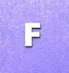 Letter F (3 cm)
