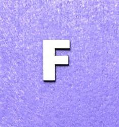 Raidė F (3 cm, 8 šriftas)