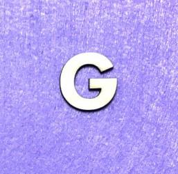 Raidė G (3 cm, 8 šriftas)