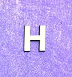 Raidė H (3 cm, 8 šriftas)