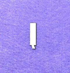 Raidė Į (3 cm, 8 šriftas)