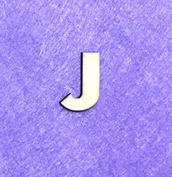 Letter J (3 cm)