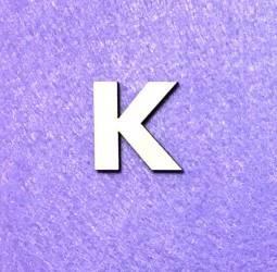Raidė K (3 cm, 8 šriftas)