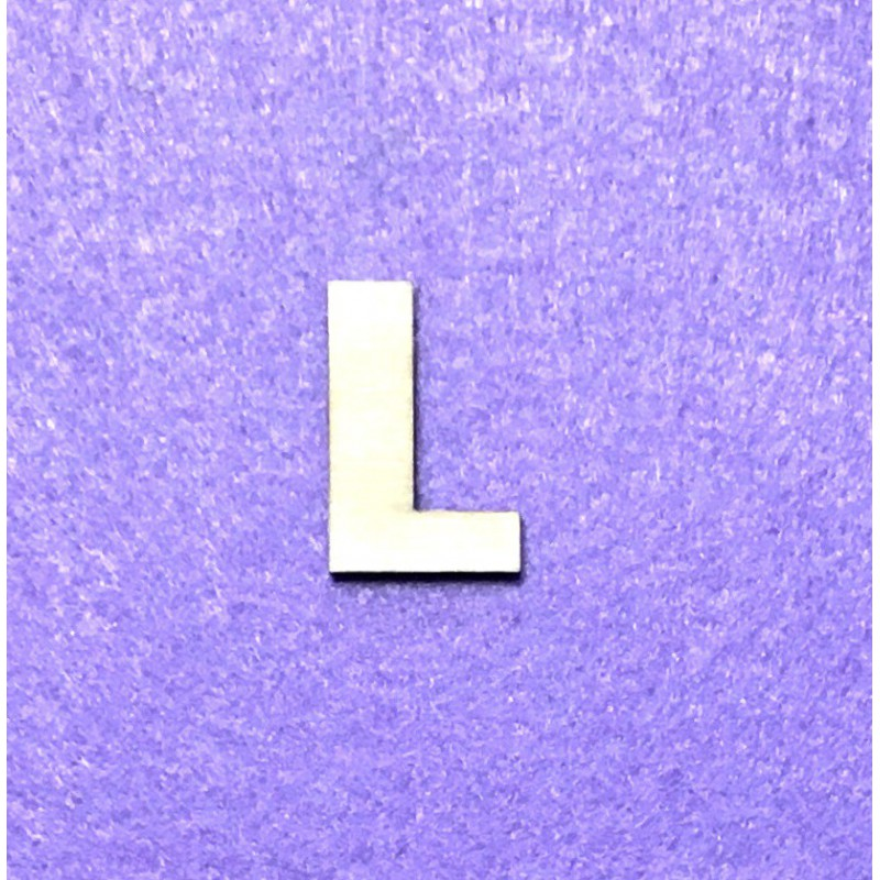 Raidė L (3 cm, 8 šriftas)