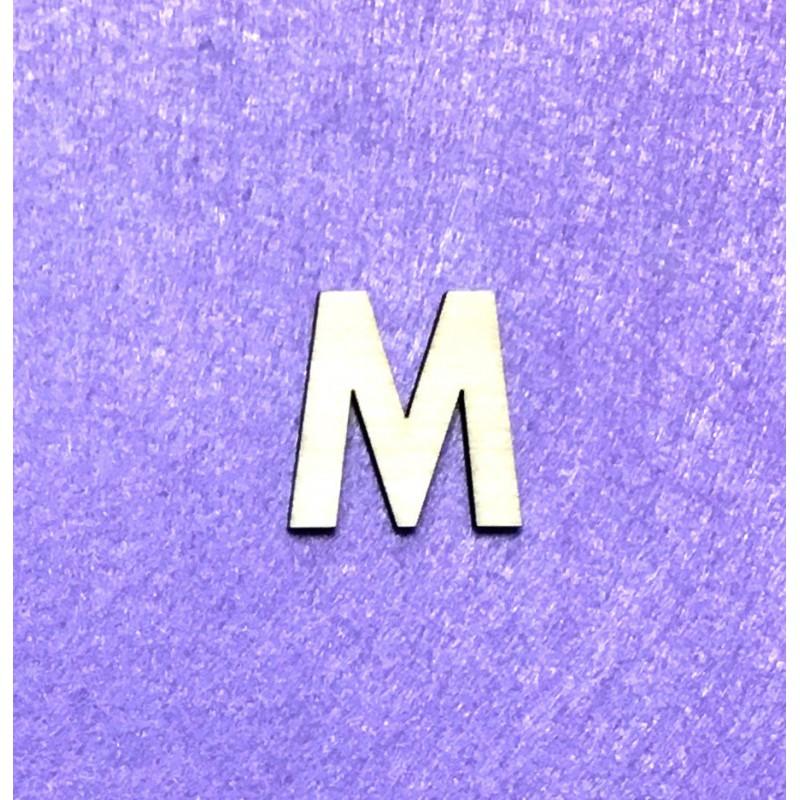 Raidė M (3 cm, 8 šriftas)