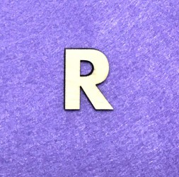 Raidė R (3 cm, 8 šriftas)