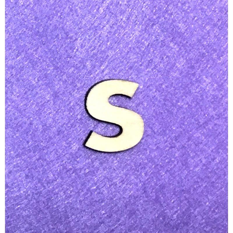 Raidė S (3 cm, 8 šriftas)
