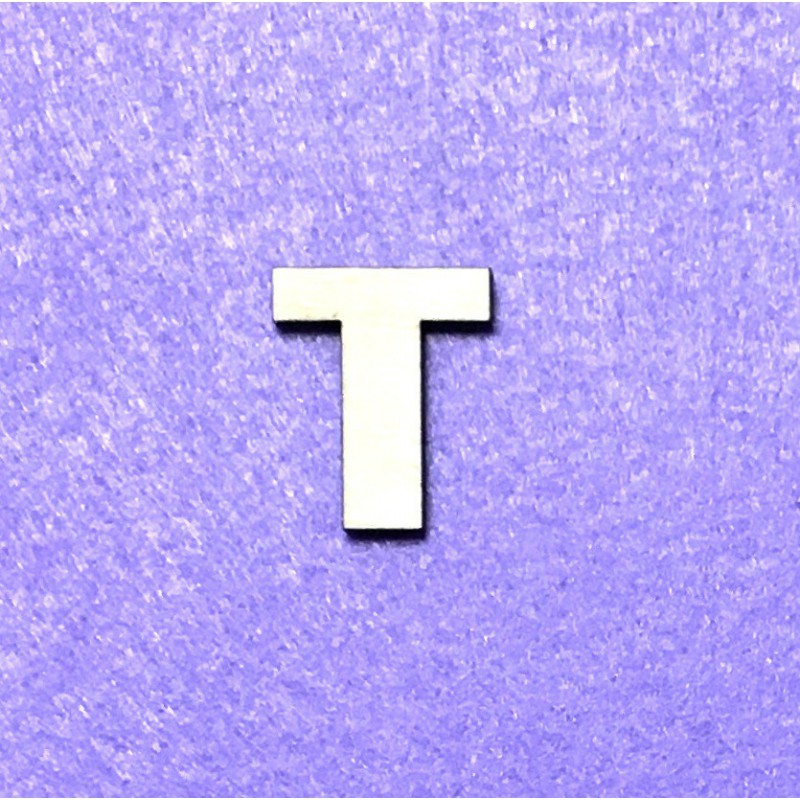 Raidė T (3 cm, 8 šriftas)