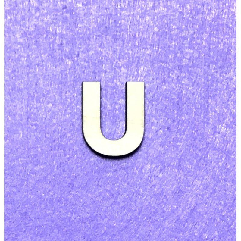 Raidė U (3 cm, 8 šriftas)