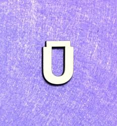 Raidė Ū (3 cm, 8 šriftas)
