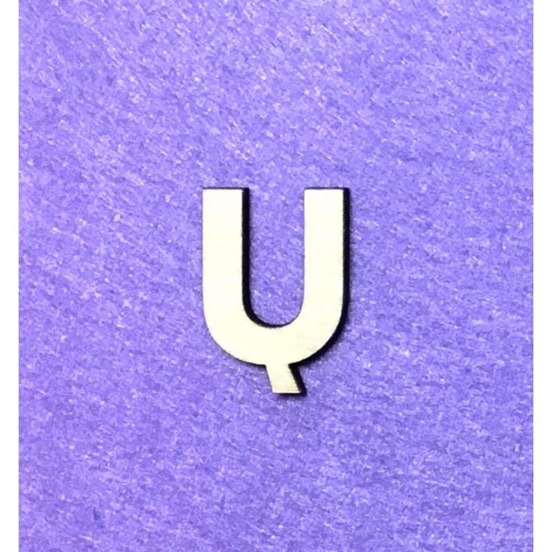 Raidė Ų (3 cm, 8 šriftas)