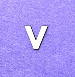 Raidė V (3 cm, 8 šriftas)