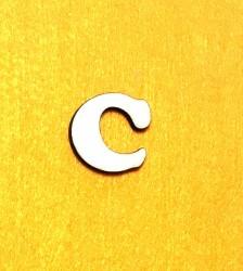 Raidė C (3 cm, 7 šriftas)
