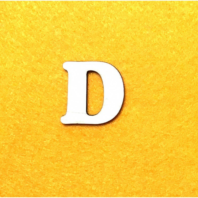Letter D (3 cm)