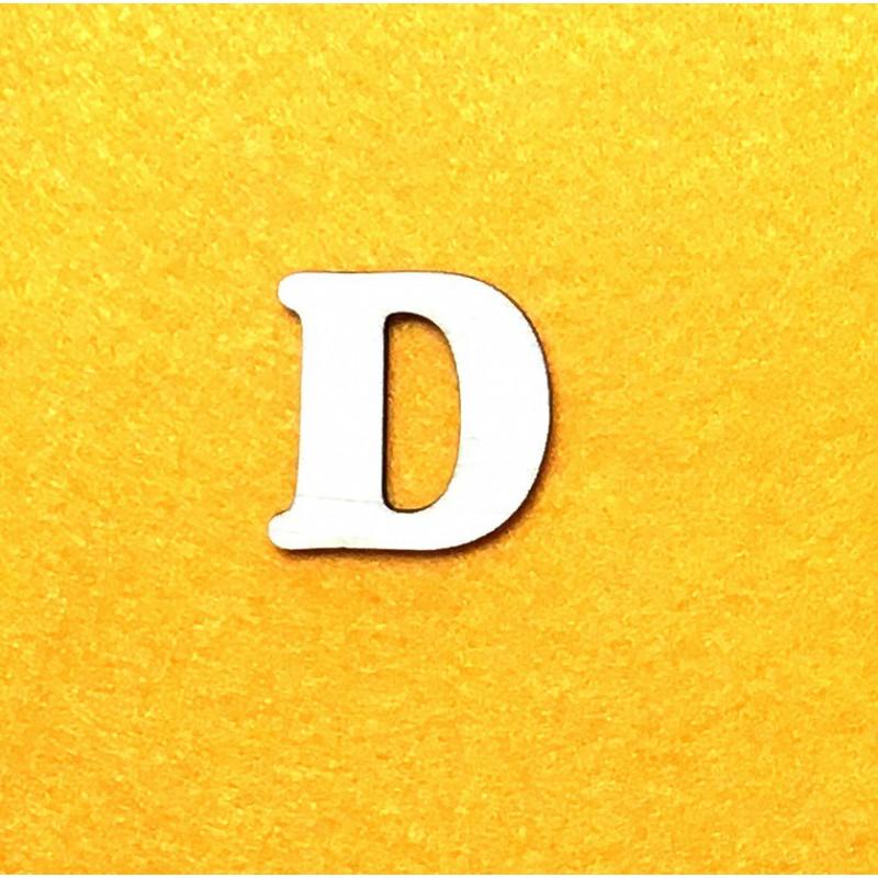 Raidė D (3 cm, 7 šriftas)