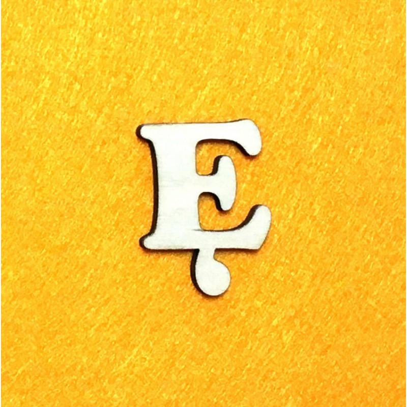 Raidė Ę (3 cm, 7 šriftas)
