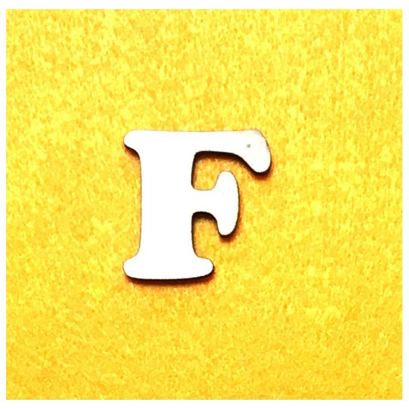 Raidė F (3 cm, 7 šriftas)