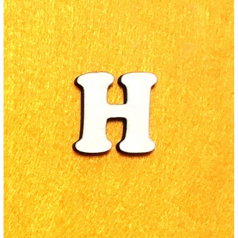 Raidė H (3 cm, 7 šriftas)