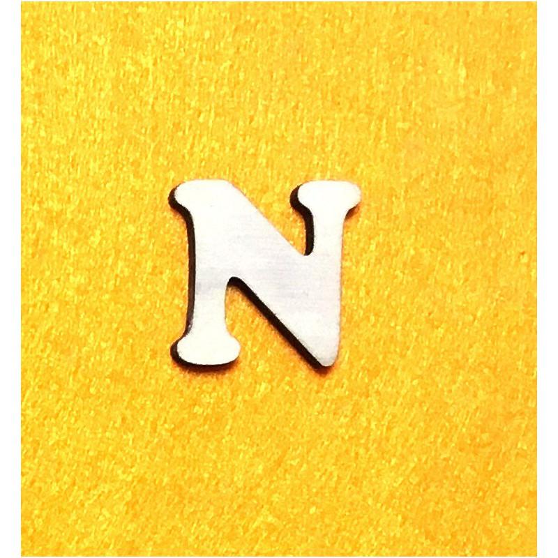 Raidė N (3 cm, 7 šriftas)