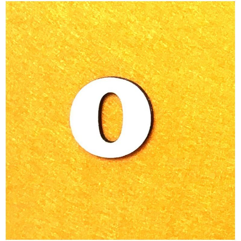Raidė O (3 cm, 7 šriftas)