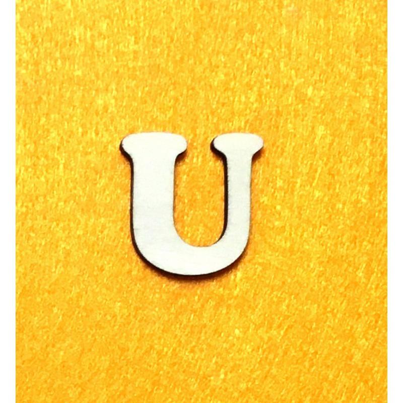 Raidė U (3 cm, 7 šriftas)