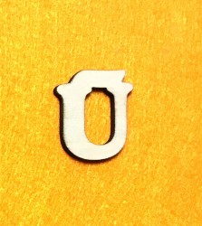 Raidė Ū (3 cm, 7 šriftas)