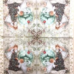 Servetėlė Eglutė ir angeliukai